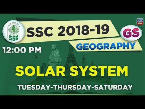 Solar System | Geography | SSC  2018 - 19 | General Studies