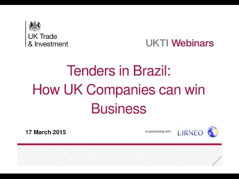 "Webinar - Tenders in Brazil: ""How UK Companies can win Business"""