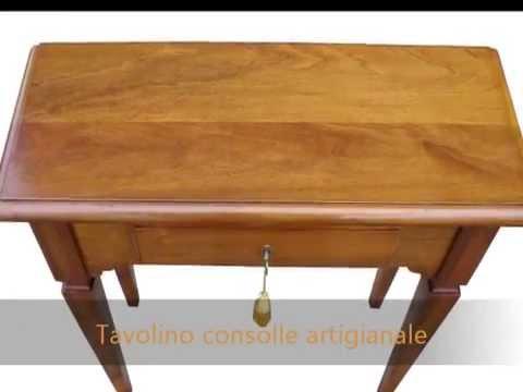 Tavolini In Legno Arte Povera : Lucidatura a tampone :tavolino consolle portatelefono in stile