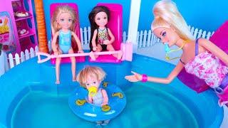 КТО ИСПОРТИЛ ВОДУ В БАССЕЙНЕ? Мультик Барби Новая серия Куклы Игрушки Для девочек IkuklaTV