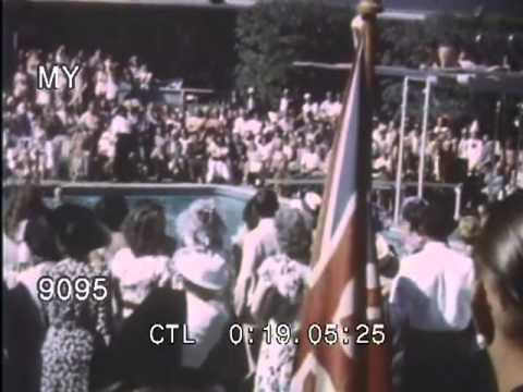 Stock Footage - 1950s Los Angeles Home Movies - Landmarks and Swimming Pool Activities
