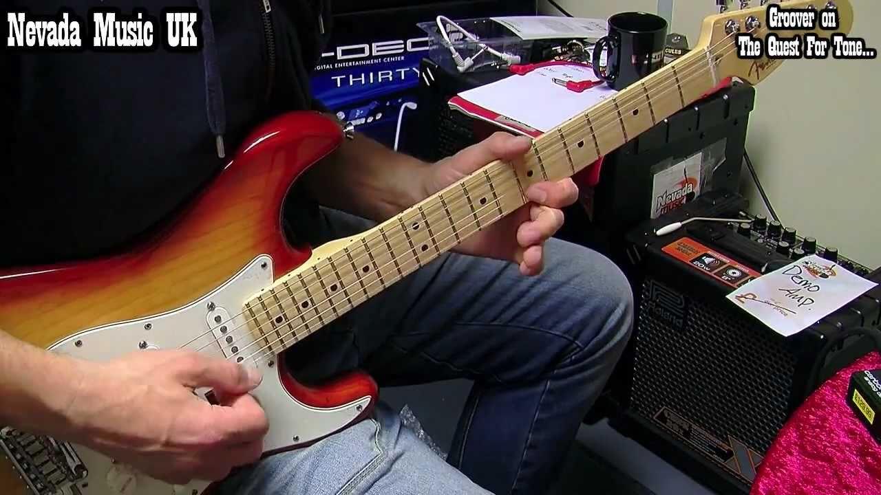 Fender American Strat Sienna Sunburst Demo Groover Pmt