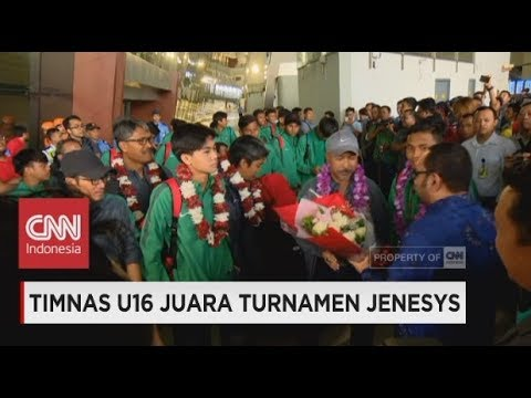 Selamat Datang Generasi Pemenang! Timnas U16 Tiba di Indonesia ; Timnas U16 Juara Turnamen Jenesys