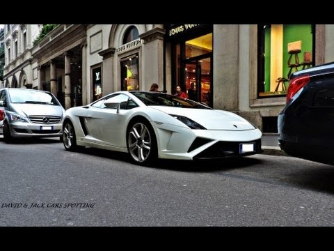 Mauro Icardi's Lamborghini Gallardo Sart Up and Drive in Milan