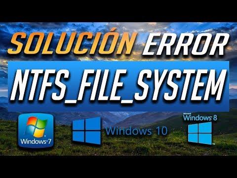Solucion al Error NTFS_FILE_SYSTEM BSOD en Windows 10/8/7 - [2021]