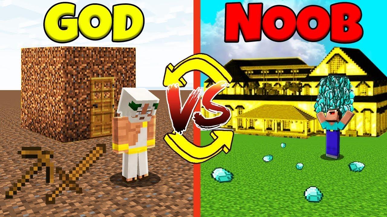 Minecraft Battle: NOOB vs GOD: SWAPPED LIFE CHALLENGE / Animation