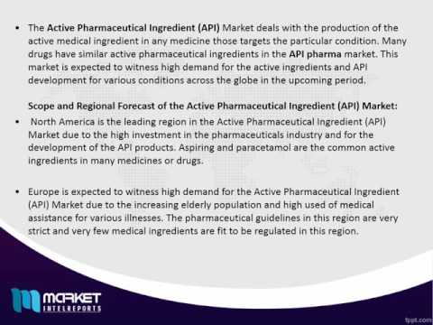 Active Pharmaceutical Ingredient (API) Market Market Forecast & Future Industry Trends 2016