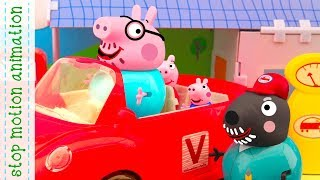 new car. Peppa Pig toy. stop motion movie  new episode 2018 hd