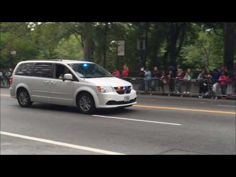 2 UNITED STATES SECRET SERVICE CONDUCTING SECURITY SWEEP AT CENTRAL PARK DURING POPE FRANCIS VISIT.
