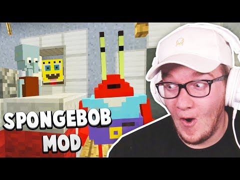 SPONGEBOB in MINECRAFT! (Best Mod Showcase)