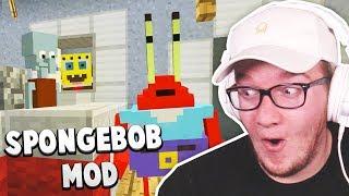 SPONGEBOB in MINECRAFT! (Best Mod Showcase)