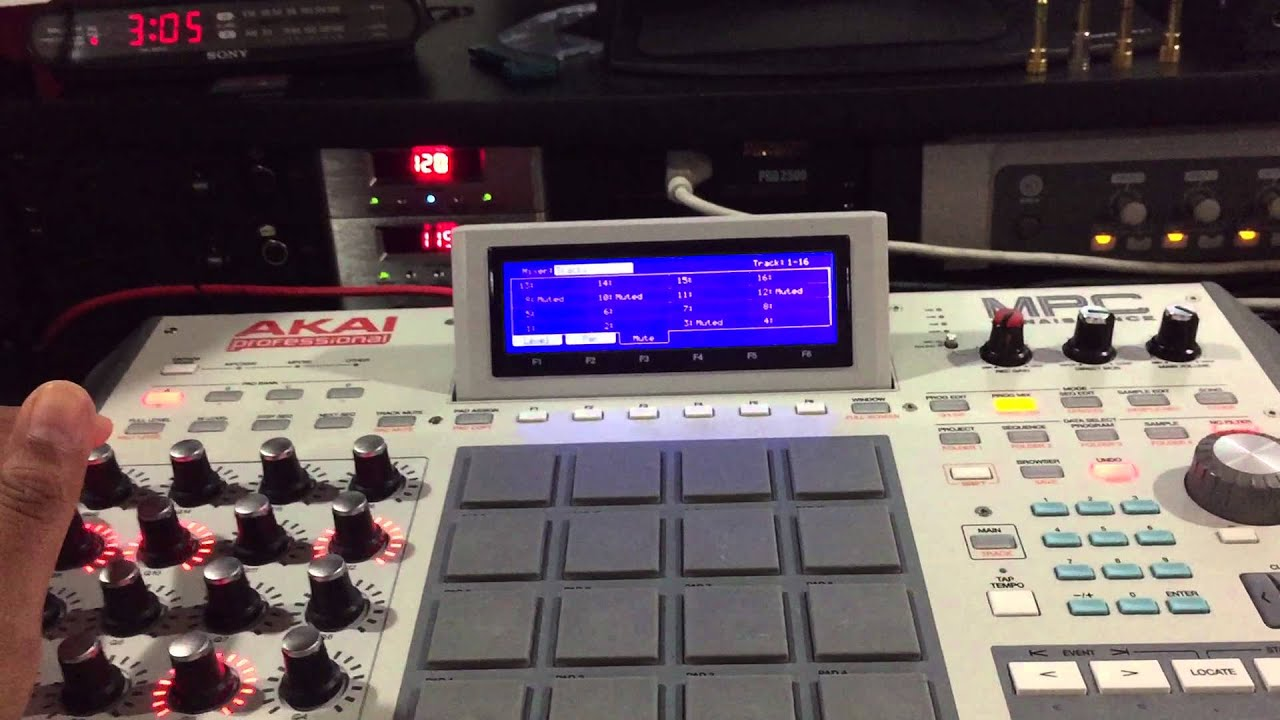 Beat making on the mpc1000