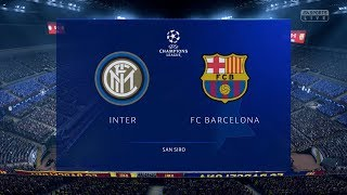 FIFA 19 | Inter Milan vs FC Barcelona - UEFA Champions League (Full Gameplay Xbox One X)