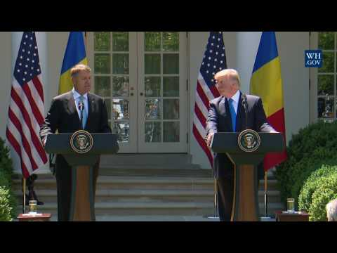 President Trump Holds a Joint Press Conference With the President of Romania