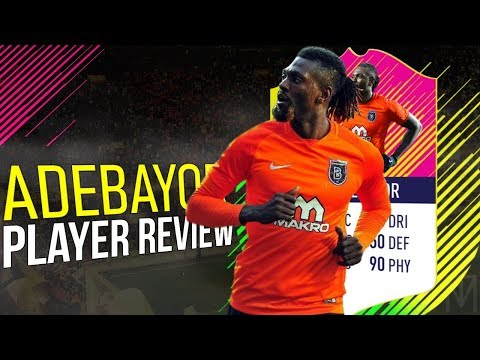 FIFA 18 - CROWH ADEBAYOR (90) PLAYER REVIEW