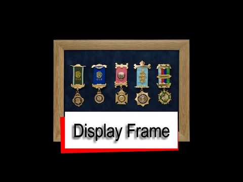 Glass Display Frame for Medals and Badges