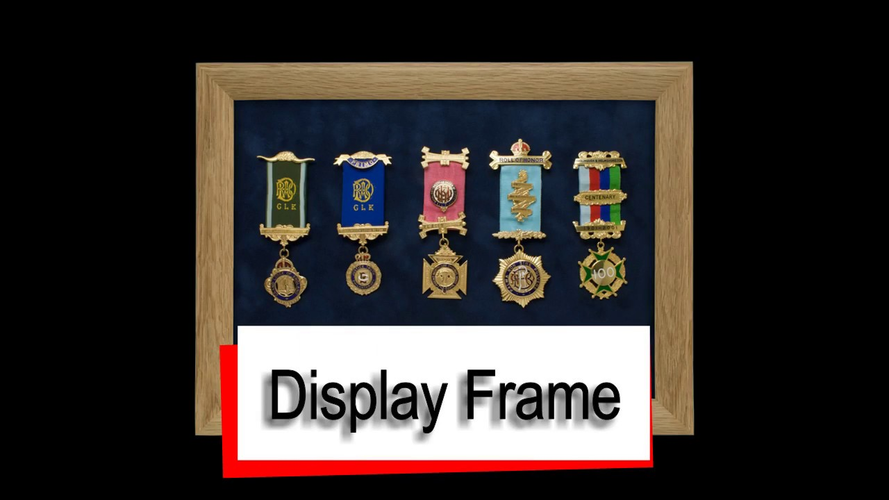 Glass Display Frame for Medals and Badges - YouTube