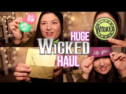 I Own a Lot of WICKED (Musical) Merchandise 😬 Haul 2018
