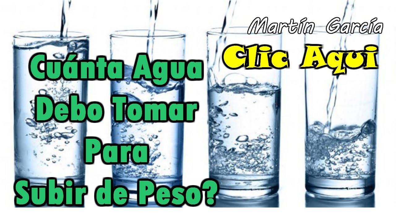 como beber agua para engordar