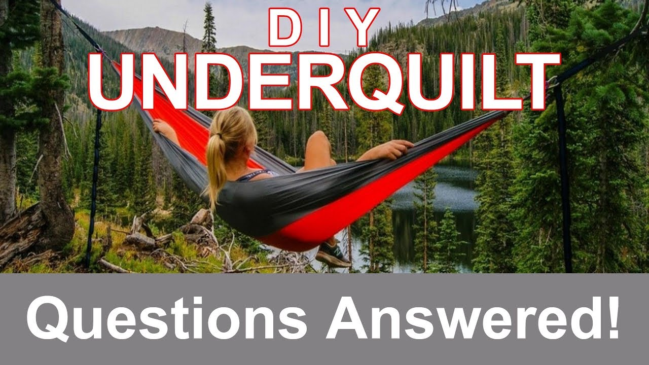 Underquilt Build Questions Answered The Diy Hammock Underquilt