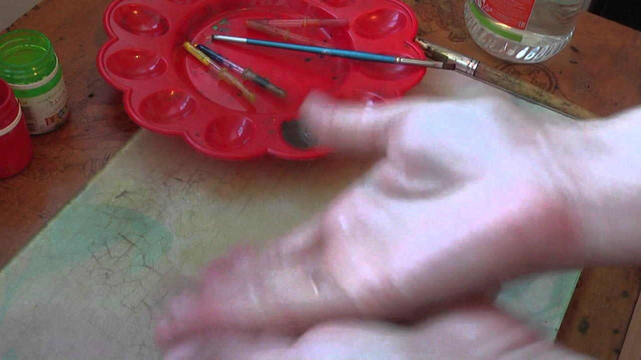 Чем покрасить ленты для вышивки
