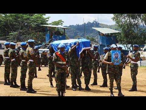 Funeral held for slain U.N peacekeepers in DRC