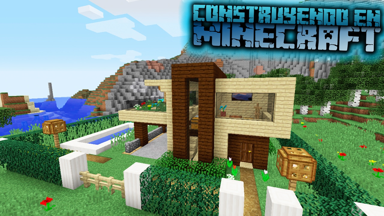 Como hacer una casa moderna para survival en minecraft for Minecraft videos casas