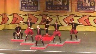 irish dance performance crew fusion fighters perform the 2016 clrg irish dance world championships