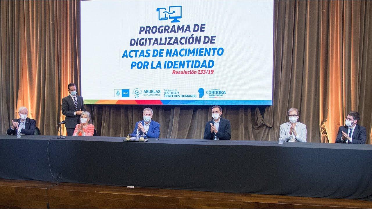 Programa de Digitalización de Actas de Nacimiento por la Identidad