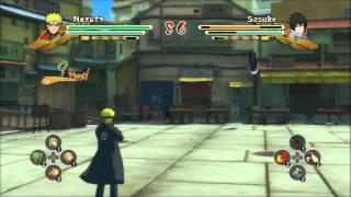 Naruto Shippuden Ultimate Ninja Storm 3 - Naruto (School Uniform) vs Sasuke (School Uniform)