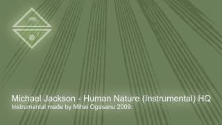 Michael Jackson - HUMAN NATURE (Instrumental) HQ - karaoke