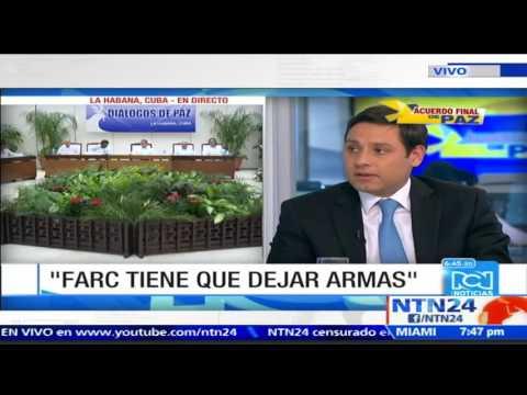 Senadores colombianos debaten sobre el desarme de las FARC antes o después del plebiscito