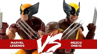 Marvel Legends Wolverine vs Mezco One:12 Wolverine