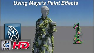 Maya Paint Effects Tutorial: Growing Animated Vines (Part 1)