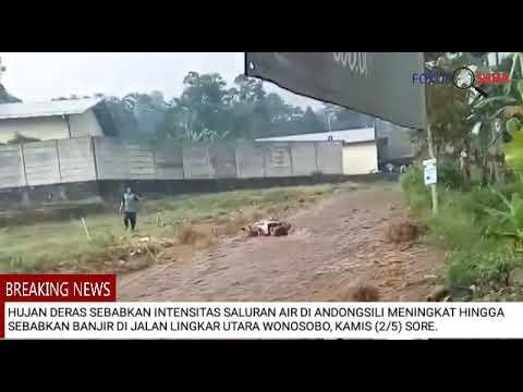 wilayah-wonosobo-dilanda-banjir,-sejumlah-kendaraan-terseret