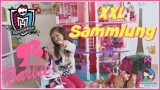 XXL Barbie & Monster High | Ava zeigt euch ihre Sammlung💕 Barbie Haus, Auto, Monster High Disco