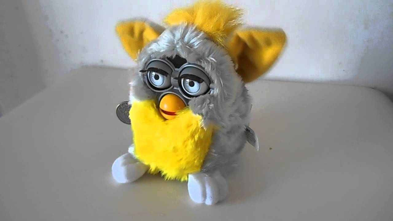 1998 Grey Amp Yellow Furby By Tiger Toys Youtube