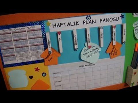 Haftalık Plan Panosu - DIY Okula Dönüş - Yapım aşamaları ve sesli anlatım