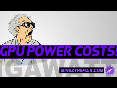 How to calculate GPU mining rig power consumption