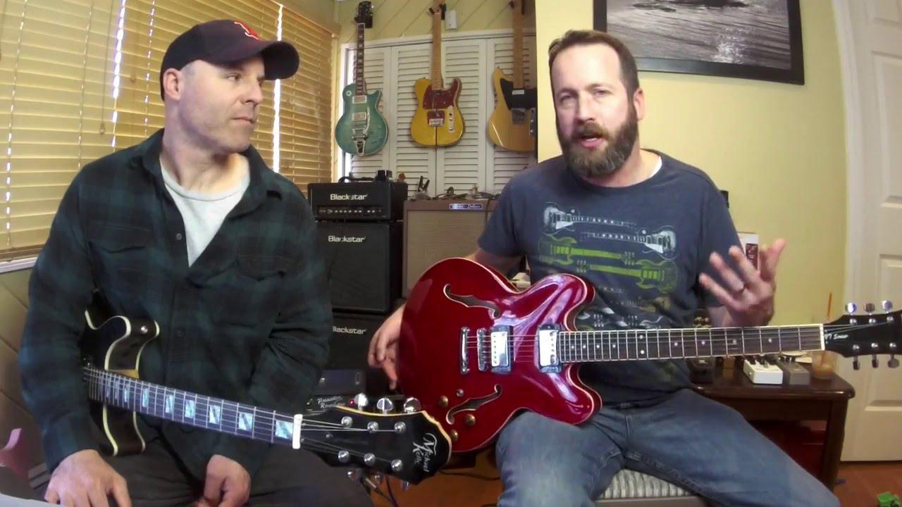 Guitar madness rd1 michael kelly hourglass hollowbody harley benton e 35 youtube