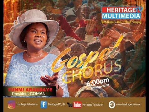 Download Evang. Funmi Aragbaye (President GOMAN) on Heritage Gospel Choruses .6th May 2020