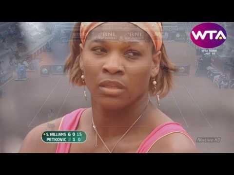 Serena Williams vs Andrea Petkovic - 2010 Rome R3 Highlights