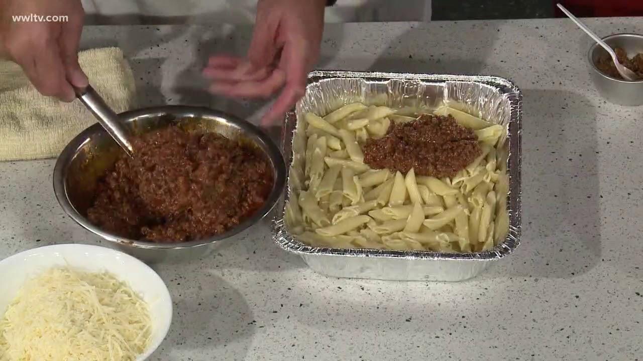 Recipe Chef Kevin Belton S Greek Pastitsio Youtube