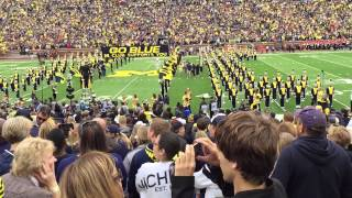 Michigan Players Entrance James Earl Jones Intro 9-12-2015