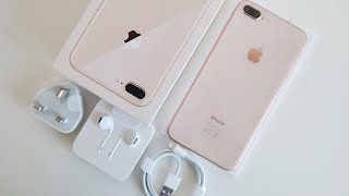 Gold iPhone 8 Plus UNBOXING & First Impressions!