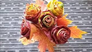 DIY Leaves roses  |  Gör Det Själv: Lönnrosor