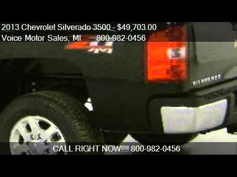 2013 chevrolet silverado 3500 ltz z 71 4x4 srw for sale for Voice motors kalkaska michigan