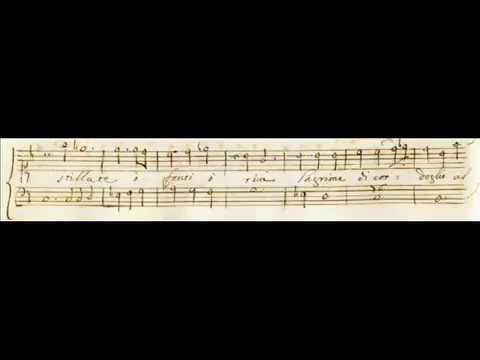 """Cavalli, Giasone - Aria di Isifile """"Lassa, che far degg'io"""" (I,14) - score"""