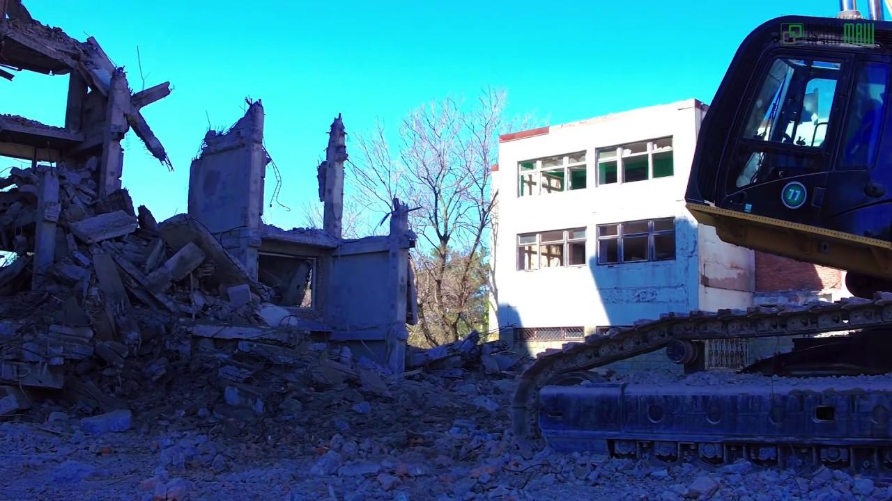 ГК «КрашМаш»: демонтаж недостроенного санатория в Геленджике