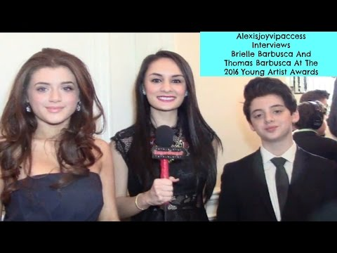 Brielle Barbusca And Thomas Barbusca   Alexisjoyvipaccess  Young Artist Awards